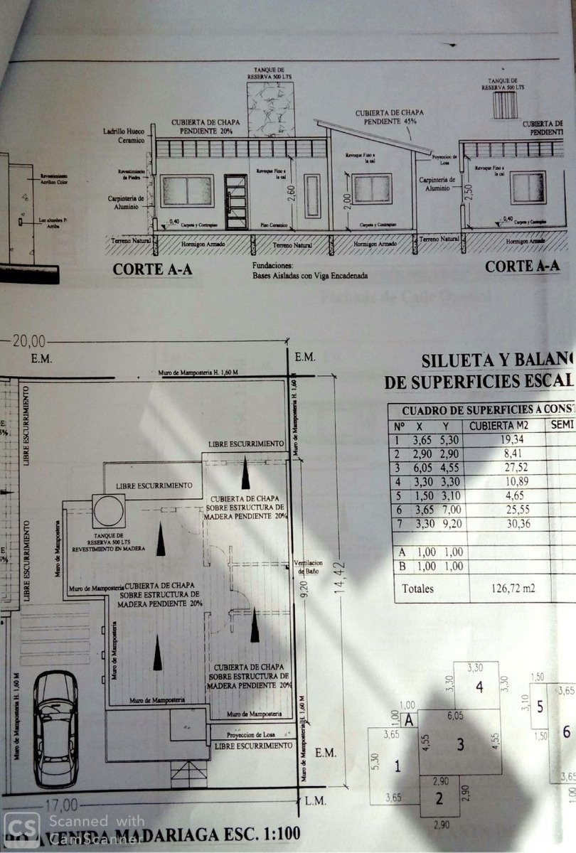lote con planos p/2 chalets -querini 996 san bernardo