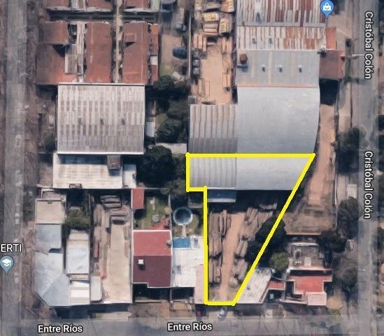 lote con tinglado parabólico  en zona semi industrial