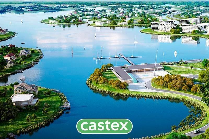 lote con vista abierta al lago central de puertos/ muelles
