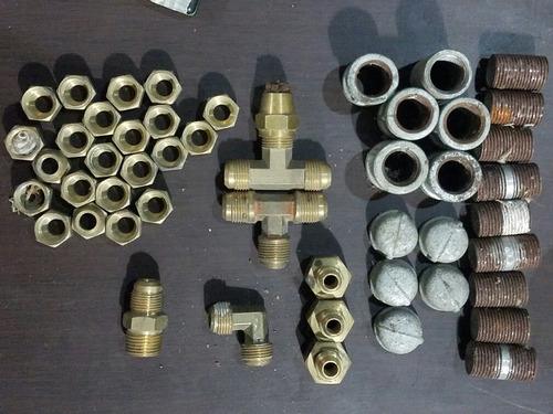 lote conexiones bronce y hierro galvanizado varias para gas