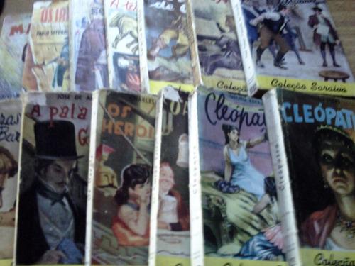 lote contendo 05 romances sa coleção saraiva