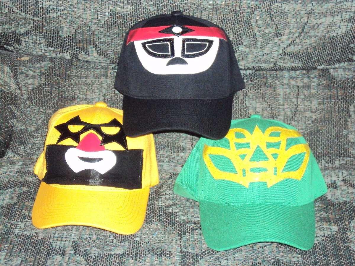lote d 3 gorras d mascara d luchador varios modelos a elejir. Cargando zoom. 2dde38b7e45