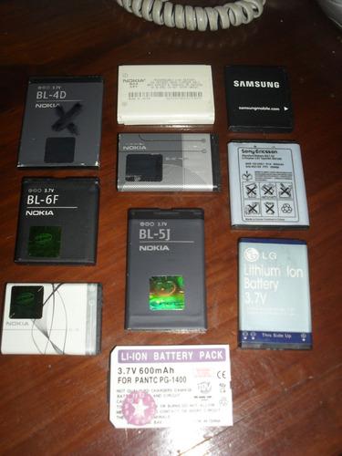 lote d baterias funcionan originales usadas, valor x unid l6