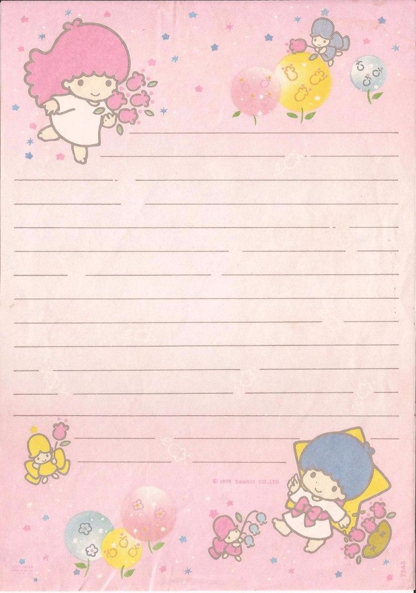 Meninas voc s colecionavam papel de carta na inf ncia - Escritorio para escribir ...