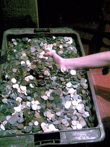 lote de 1 kilo [kg] de monedas argentinas en muy buen estado