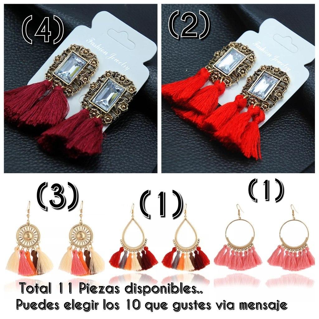 5e3563d34f85 Lote De 10 Aretes Para Mujer Variados -   290.00 en Mercado Libre