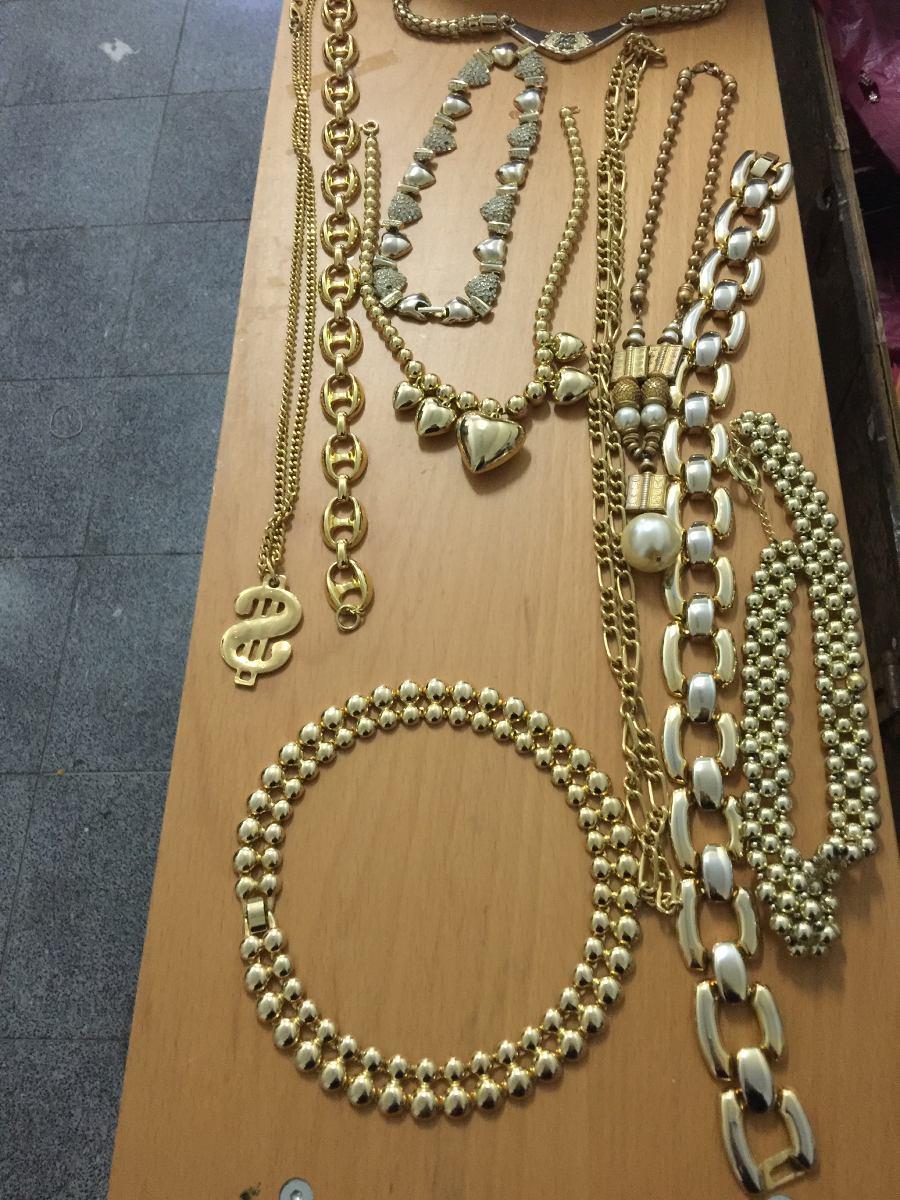 b4e28a871c90 lote de 10 collares dorados. Cargando zoom.