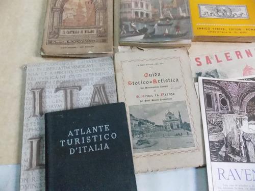 lote de 10 libros, turismo italia, español e italiano