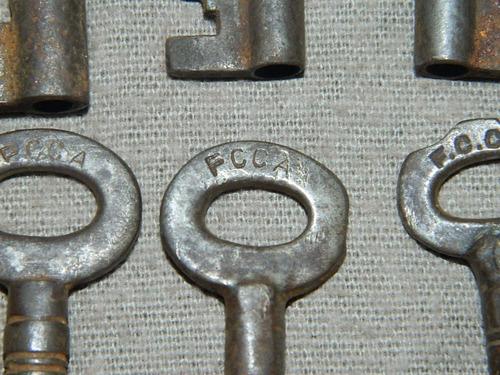 lote de 10 llaves del ferrocarril - candados