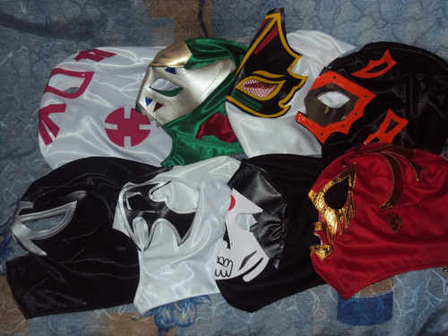 lote de 10 mascaras d luchadores p/niño santo demon wagner m