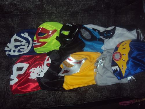 lote de 10 mascaras economicas luchadores p/adulto variedad