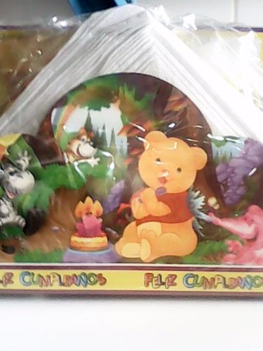 lote de 10 porta servilletas de winnie pooh con servilletas