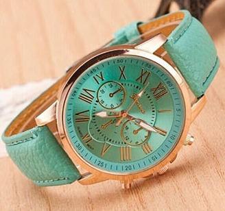 lote de 10 relojes geneva reloj retro dama mayoreo moda
