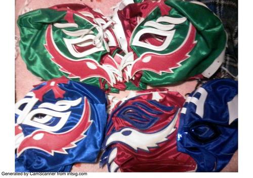 lote de 100 mascaras de luchadores p/adultoenvio gratis$2499