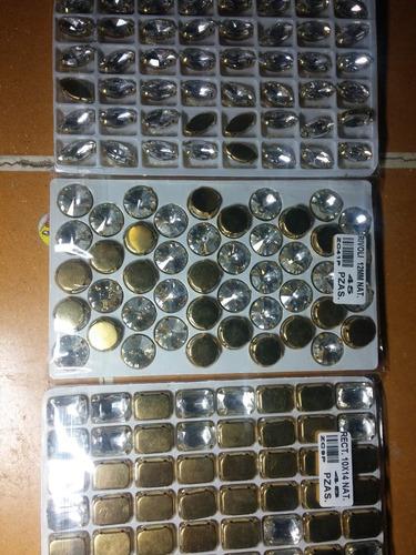 lote de 100 octagonales de cristal 14mm para cortina candil