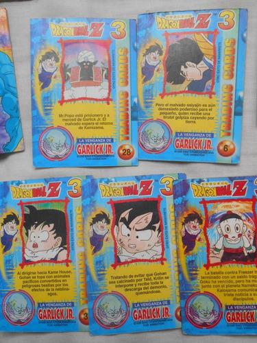 lote de 11 cards de dragon ball 3, editorial navarrete