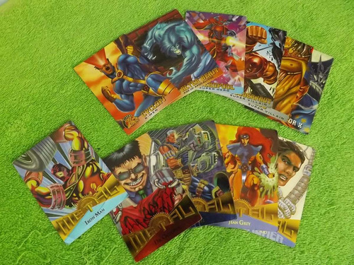lote de 11 cartas cards marvel metal e marvel fleer x-men
