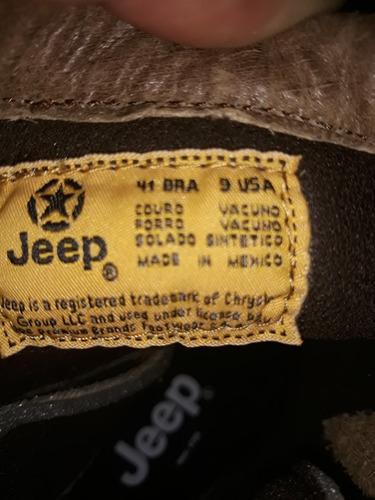 lote de 11 pares de botas da jeep varios tamanhos
