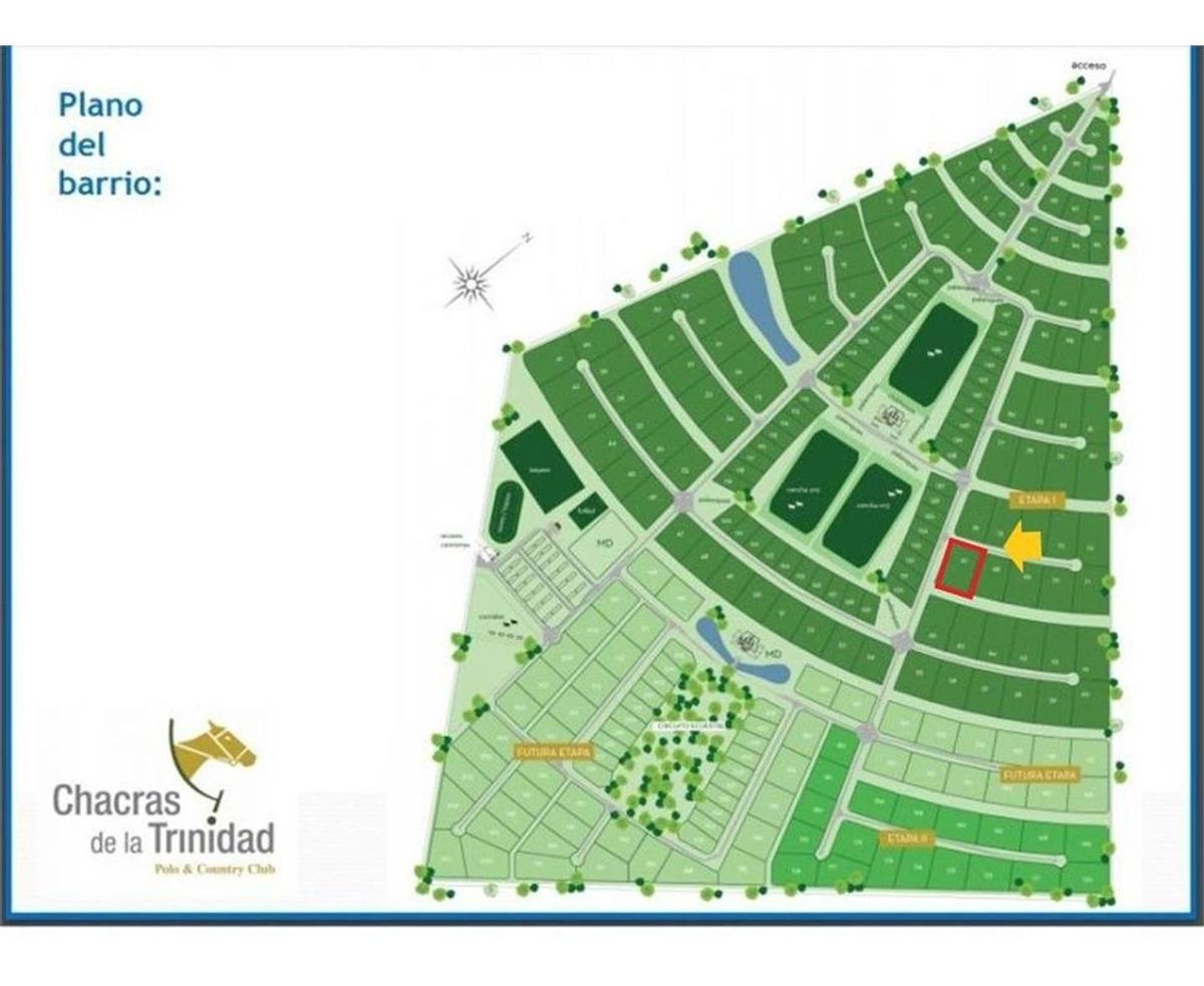 lote de 11.300m2 en barrio privado chacras de la trinidad