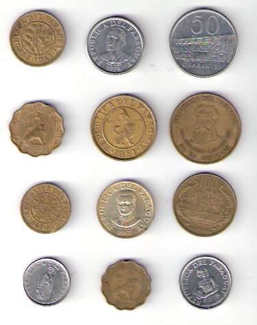 lote de 12 monedas de paraguay  distintas  ¡ oferta !