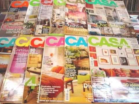 lote de 12 revistas casa claudia - ano 2000 completo