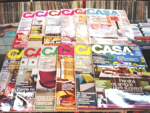 lote de 12 revistas casa claudia - ano 2004 completo