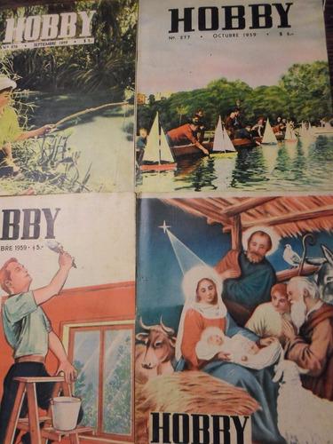 lote de 12 revistas hobby - enero/diciembre 1959