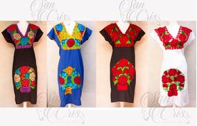 Vestidos Bordados Oaxaqueños Largos Mujer Vestidos Largo