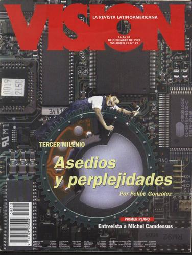 lote de 13 revistas de  vision  la revista latinoamericana
