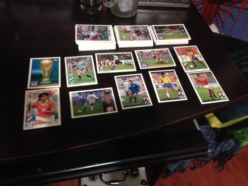 lote de 136 cartas tarjetas fútbol  mundial fifa usa 1994