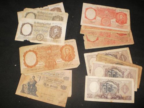 lote de 14 billetes moneda nacional
