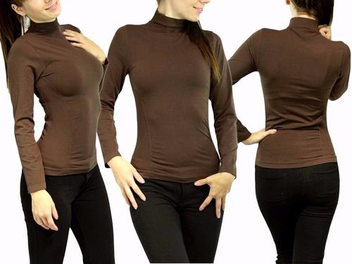 lote de 15 blusas termica cuello alto/bajo afelpado