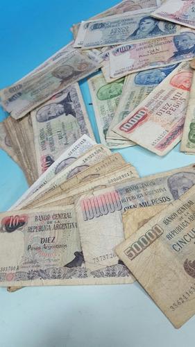 lote de 150 billetes argentinos