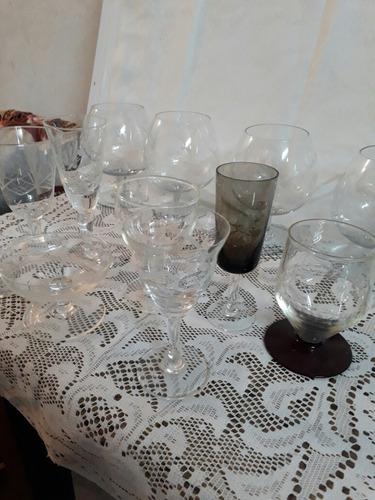 lote de 18 copas de cristal (caja i)
