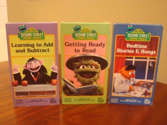 Lote De 19 Fitas Vhs ( 1 Barney E 18 Sesame Street ) Import