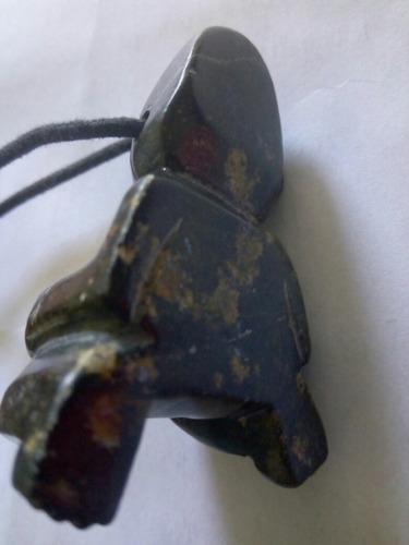 lote de 2 caras  tallada en jade prehispanico