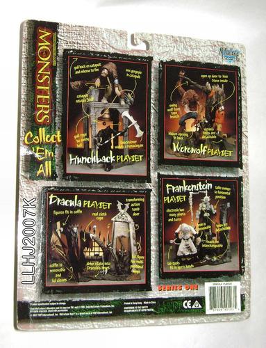 lote de 2 playset dracula & jorobado monsters series 1 spawn