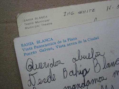 lote de 2 postales bahia blanca
