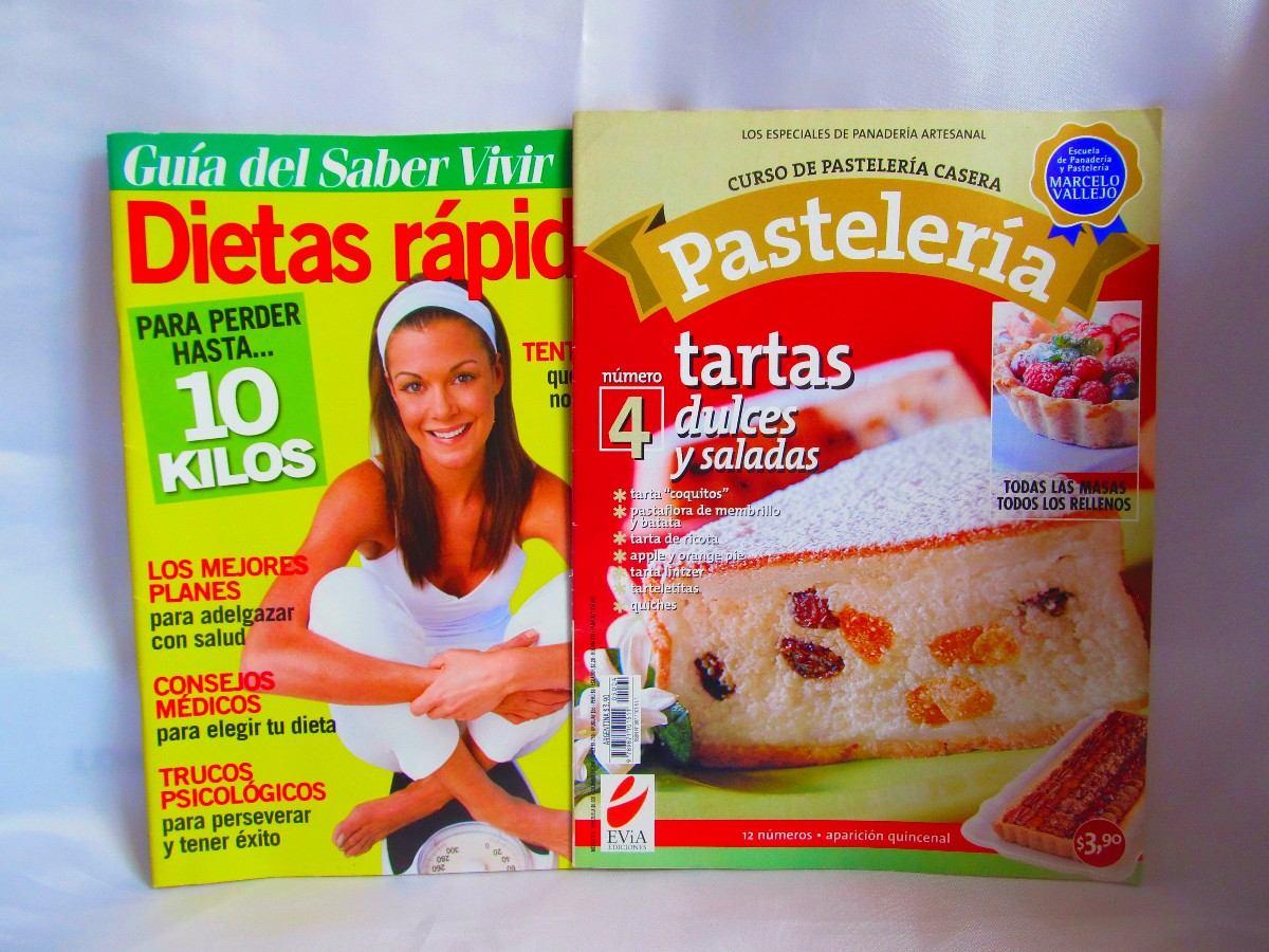Lote De 2 Revistas Guia Del Saber Vivir Y Curso Pasteleria 71  ~ Dieta Adelgazamiento Saber Vivir