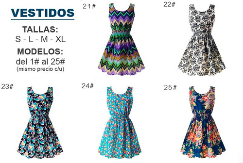 lote de 20 vestidos de mujer - tallas s, l, m, xl y xxl
