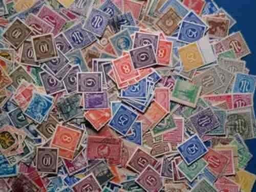 lote de 21 estampillas de alemania. entre 1.946 y 1.949