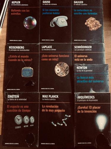 lote de 21 libros de grandes ideas  de la ciencia