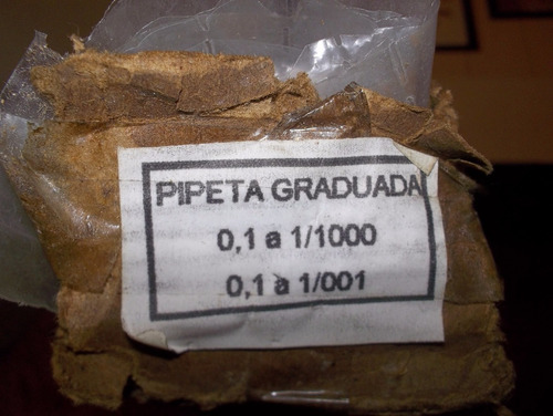 lote de 25 pipetas de laboratorio graduadas sin uso.