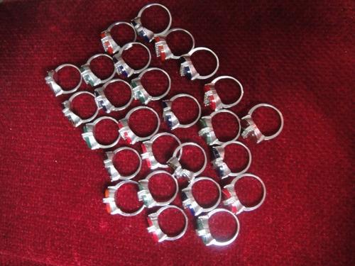 lote de 26 anillos de fantasía con pedrería al mayor