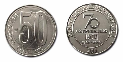 lote de 274 monedas 50 ctmos 70 aniv. bcv al mejor precio.