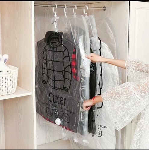 lote de 3 bolsa al vacio grandes para colgar ropa vestidos