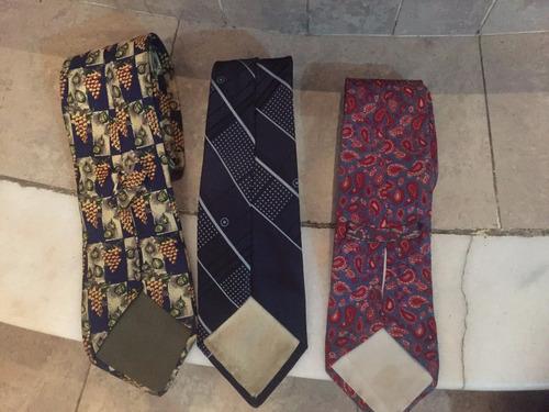 lote de 3 corbatas