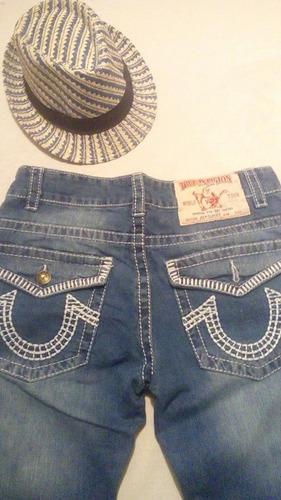 lote de 3 jeans true religion t-36 recto envio gratis