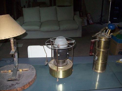 lote de 3 lamparas antiguas
