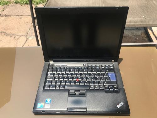 lote de 3 laptops t400 lenovo hd de 120 2 ram sin/cam